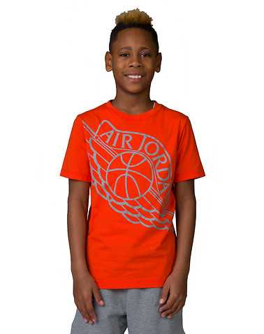 JORDAN BOYS Orange Clothing / Short Sleeve T-Shirts