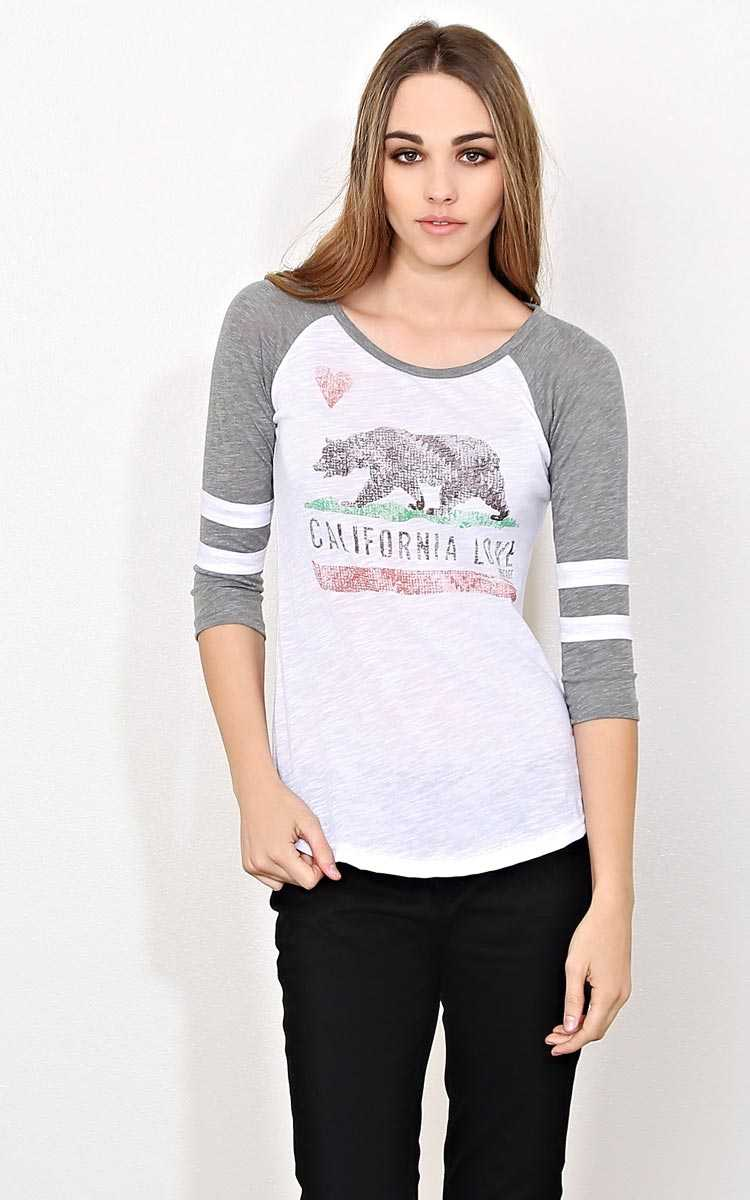 CALIFORNIA LOVE Relaxed Knit Raglan - - in Size by Styles For Less