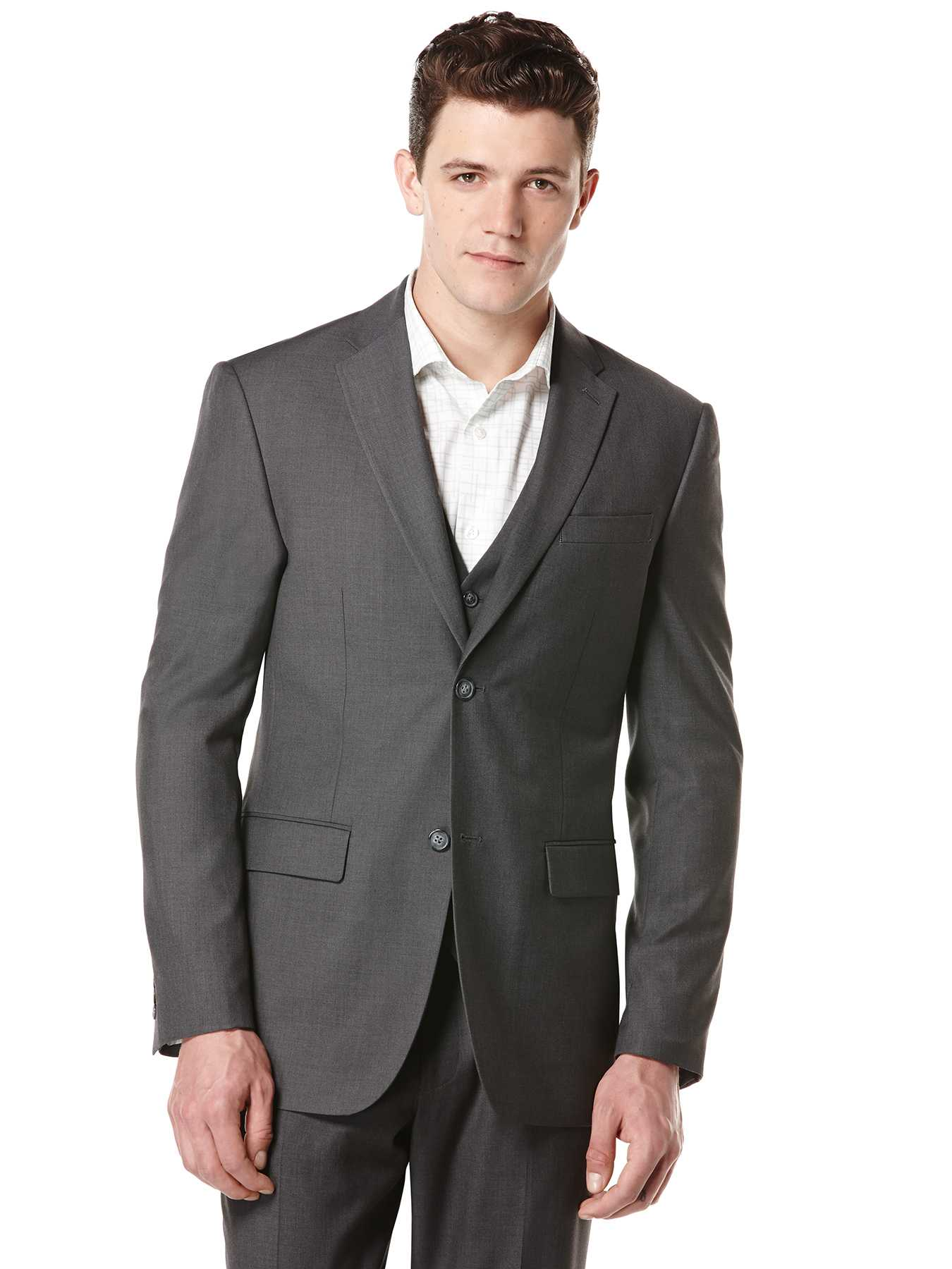 Perry Ellis Big and Tall Solid Suit Jacket