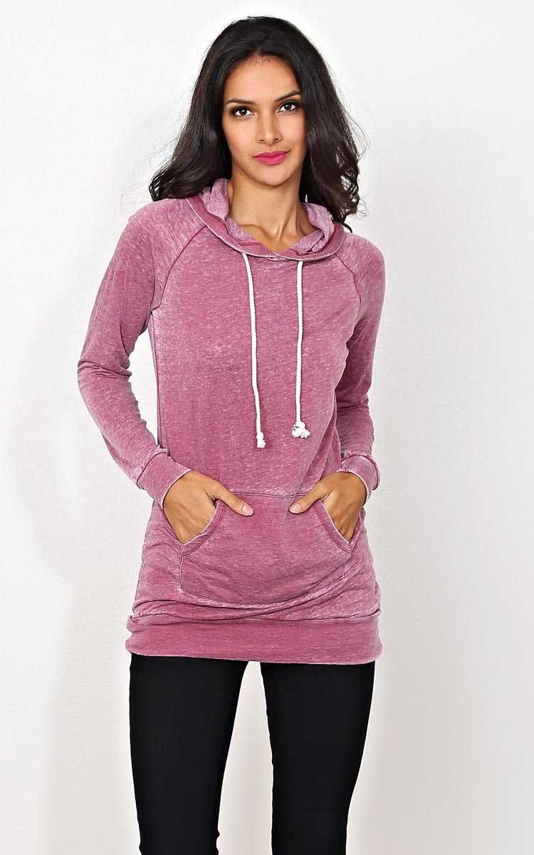 Alana Long Sleeve Tunic Hoodie - - in Size by Styles For Less