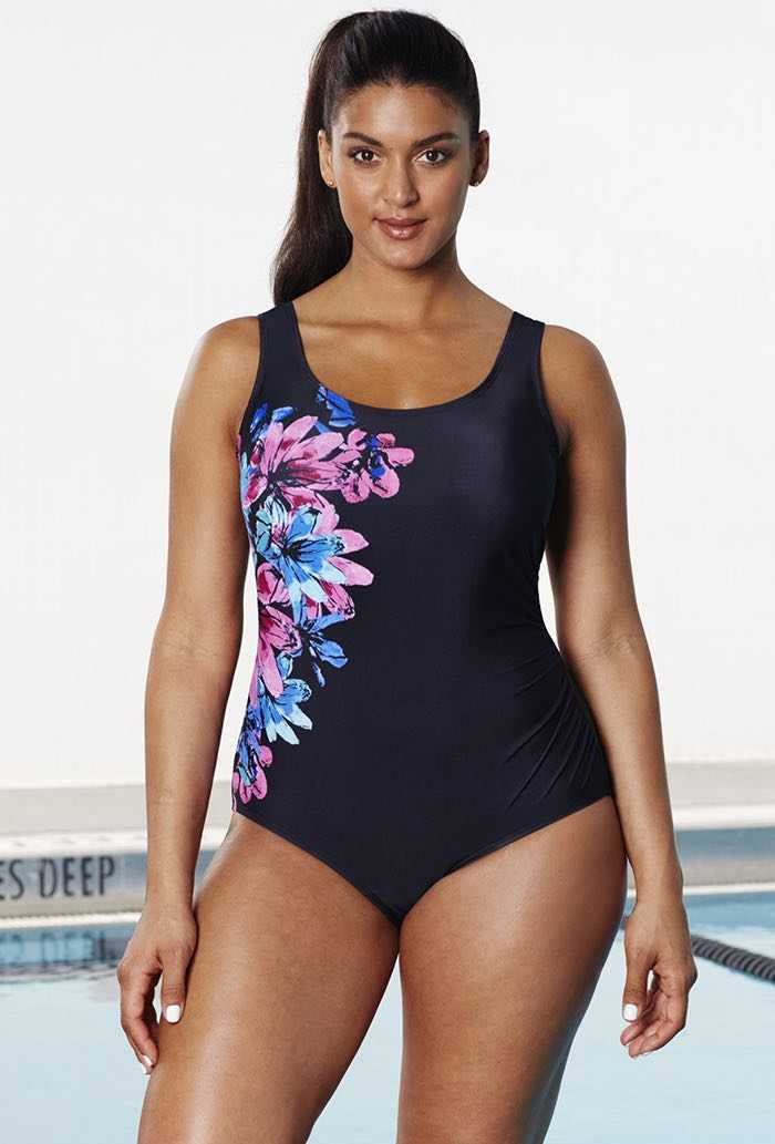 Chlorine Resistant Xtra Life Lycra Courtyard Side-Shirred Swimsuit