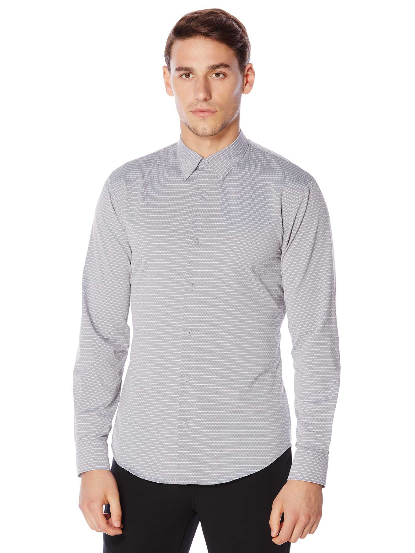 Perry Ellis Active Horizontal Stripe Shirt
