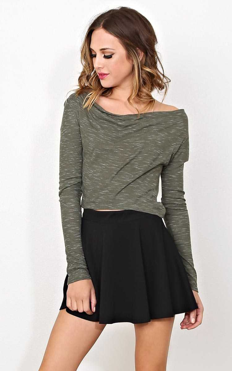 Take Me To Mars Knit Top - LGE - Olive/Drab in Size Large by Styles For Less
