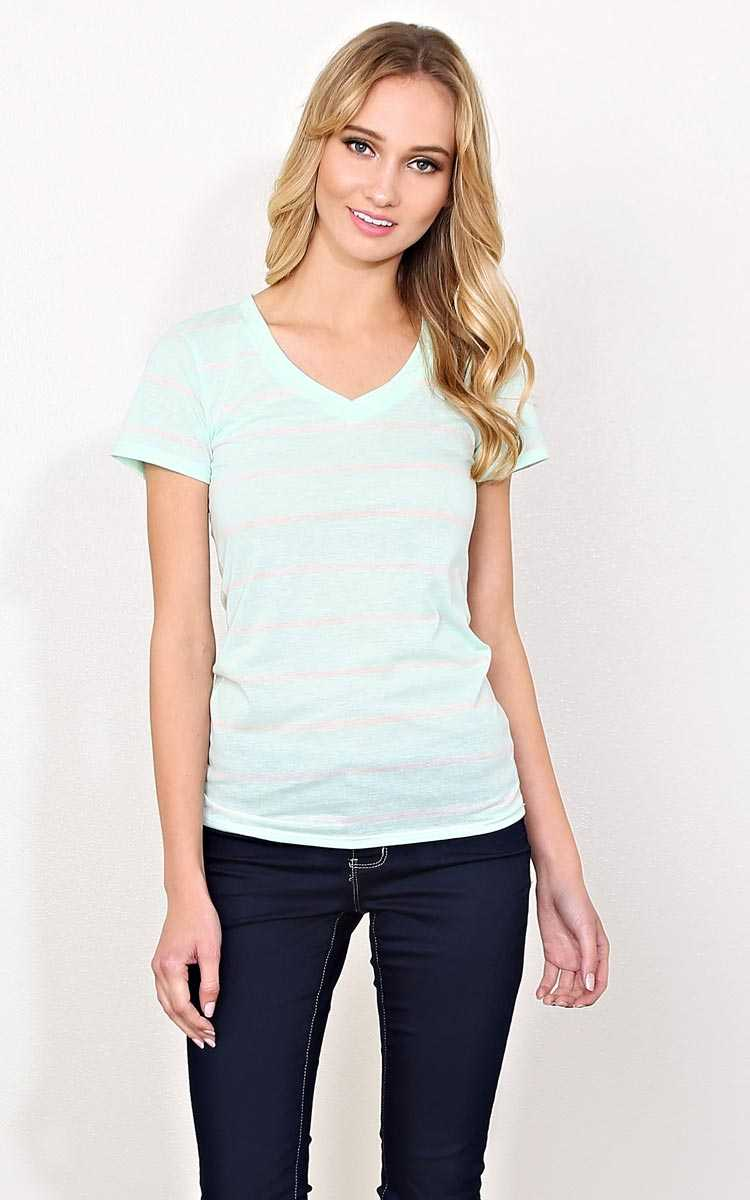 Hannah Striped Mint Top - - Mint Combo in Size by Styles For Less