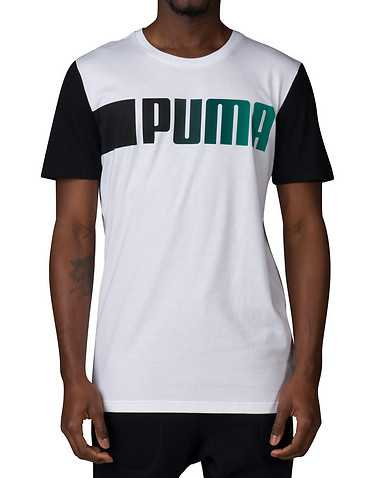 PUMA MENS White Clothing / Tank Tops S