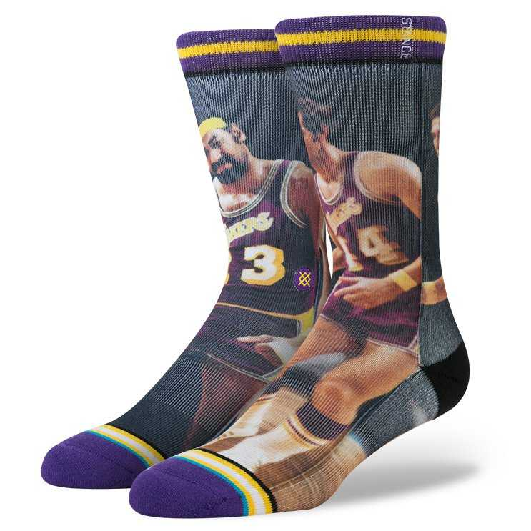 Stance Chamberlain/West YEL L nba legends Socks