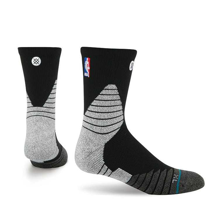 Stance Solid Qtr Black L NBA On Court Socks