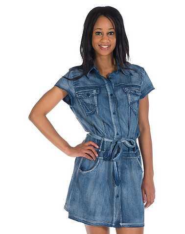 ESSENTIALS WOMENS Blue Clothing / Dresses M