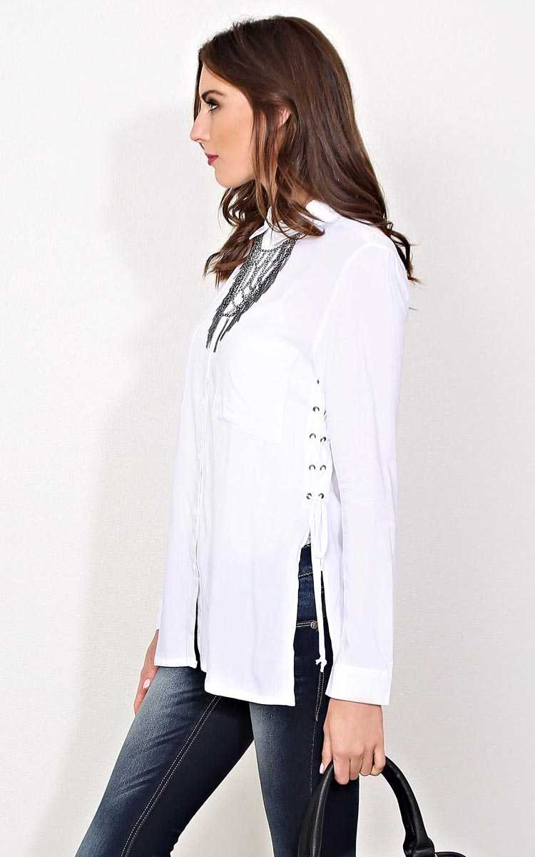 Ready For Anything Woven Top - - White in Size by Styles For Less