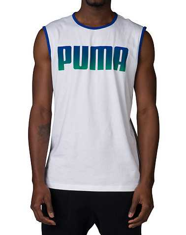 PUMA MENS White Clothing / Tank Tops L