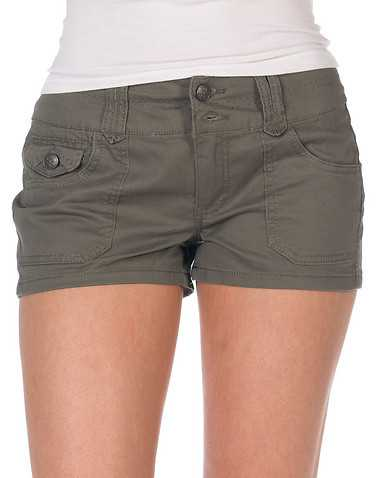 BOOM BOOM JEANS WOMENS Dark Green Clothing / Casual Shorts 1