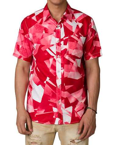 DIAMOND SUPPLY COMPANYENS Red Clothing / Button Down Shirts