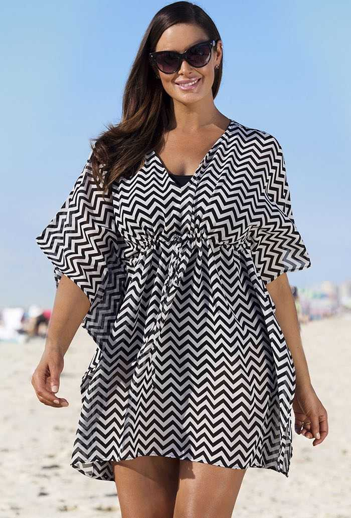 Black Chevron Poncho