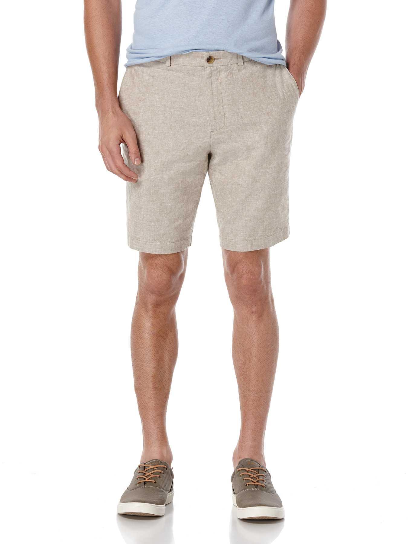 Perry Ellis Linen Cotton Textured Solid Short