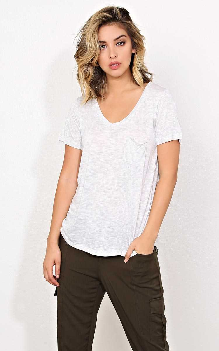On The Go Slub Pocket Tee - - Heather in Size by Styles For Less