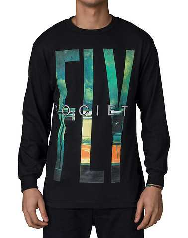 FLYOCIETY MENS Black Clothing / Tops
