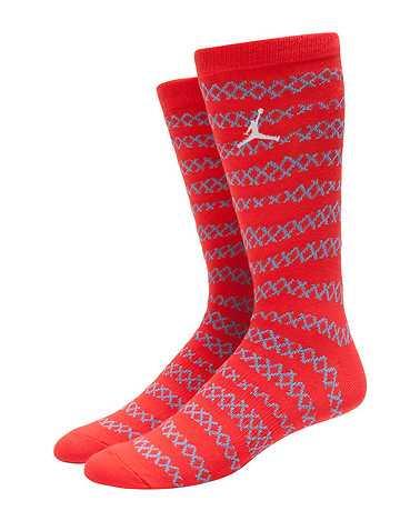 JORDAN MENS Orange Accessories / Socks L