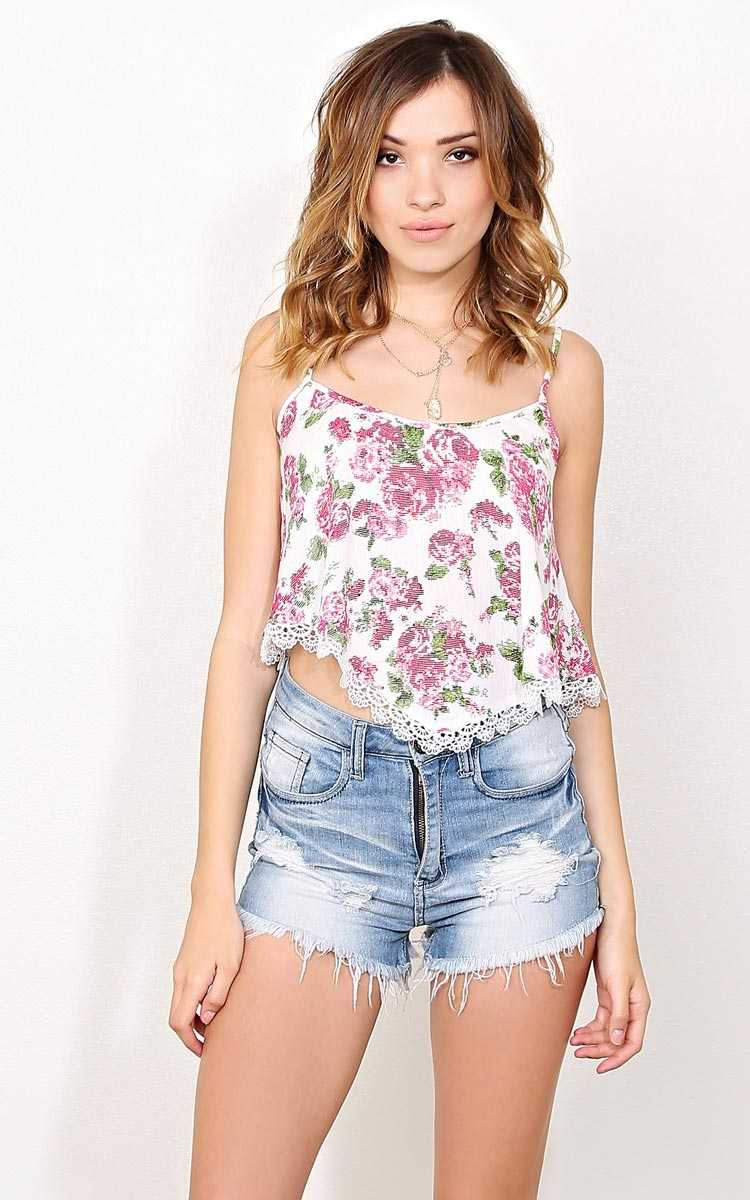 Pink Amerie Woven Tank - - Pink Combo in Size by Styles For Less