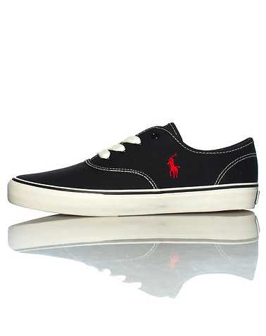 POLO FOOTWEAR BOYS Black Footwear / Sneakers 5.5