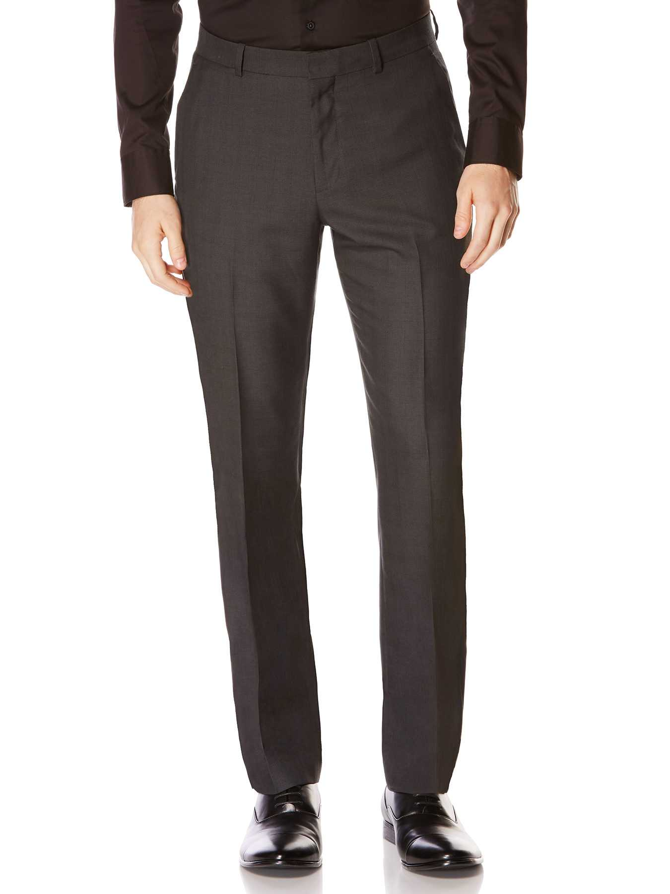Perry Ellis Slim Fit Tonal Plaid Dress Pant