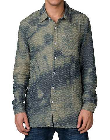 HUDSON OUTERWEARENS Blue Clothing / Button Down Shirts