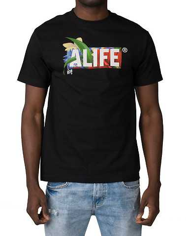 ALIFE MENS Black Clothing / Tops L