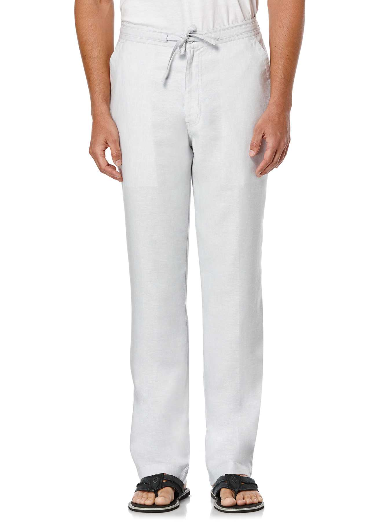 Cubavera Linen Textured Pant With Back Elastic