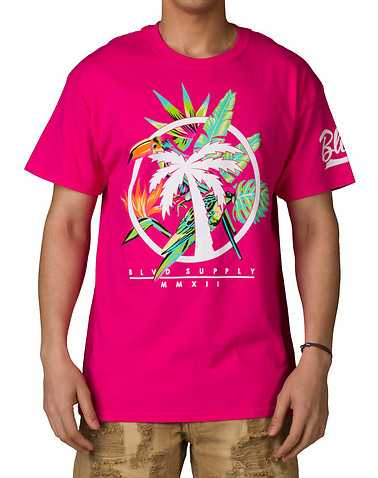 BLVD SUPPLY MENS Pink Clothing / Tops M