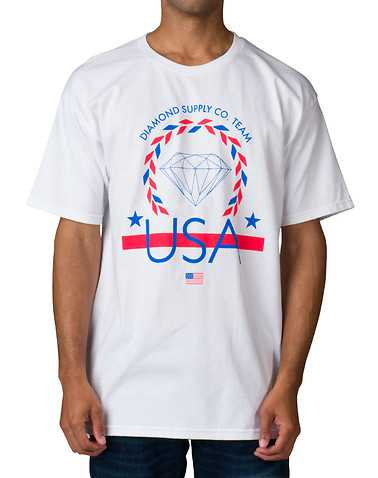 DIAMOND SUPPLY COMPANY MENS White Clothing / Tops