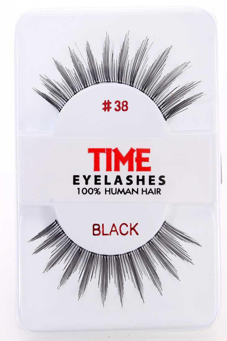 Black Full Lengthening Glamour Human Hair Eyelashes