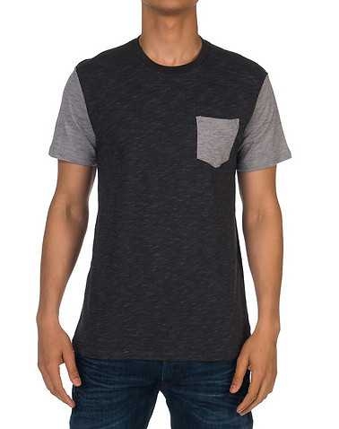OCEAN CURRENT MENS Black Clothing / Tees and Polos S