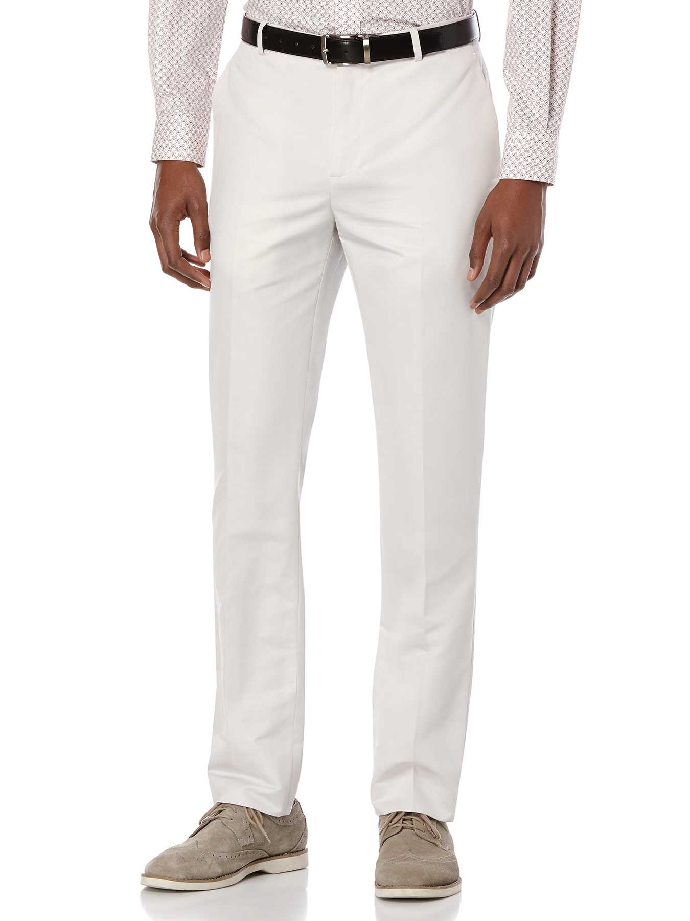 Perry Ellis Slim Fit Slub Linen Suit Pant