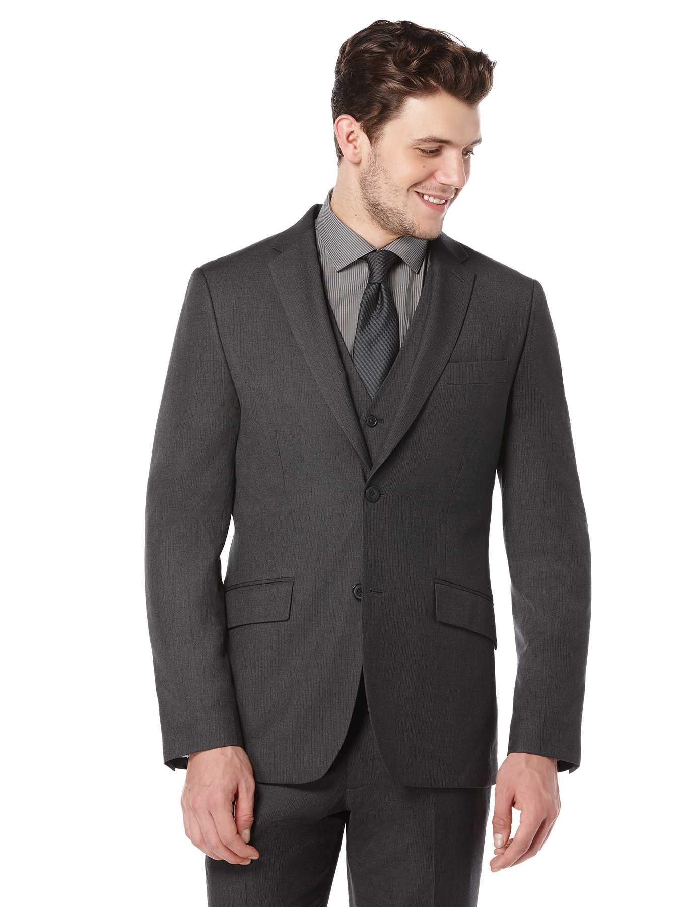 Perry Ellis Slim Fit Subtle Pattern Suit Jacket