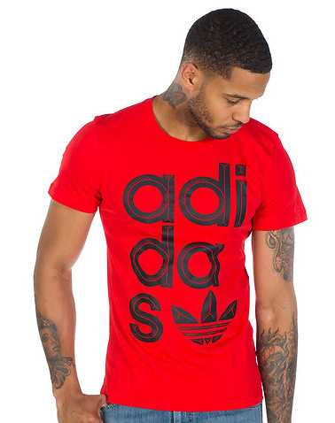 adidas MENS Red Clothing / Tees and Polos