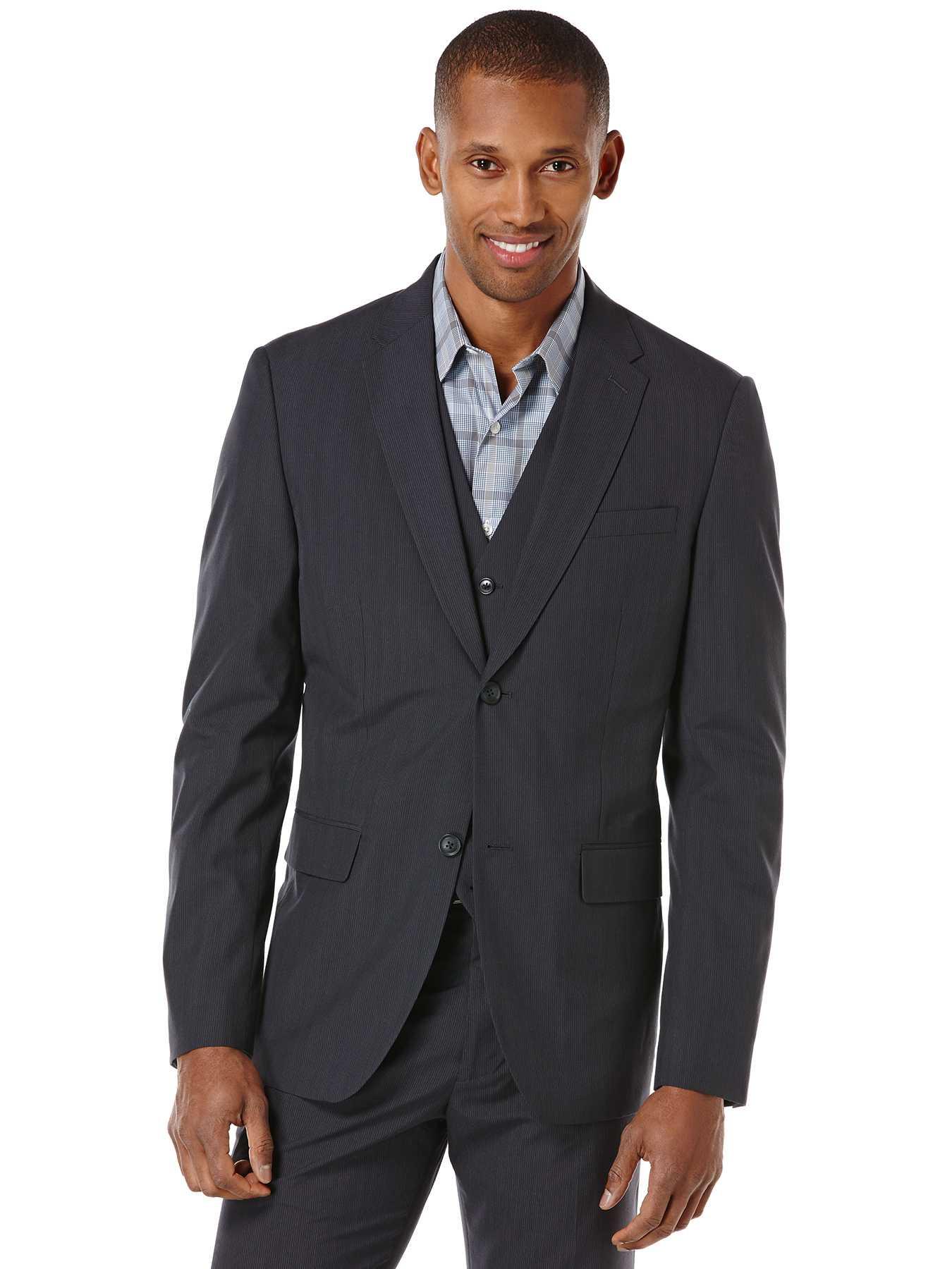 Perry Ellis Regular Fit Pinstripe Suit Jacket