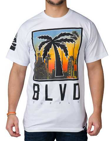 BLVD SUPPLY MENS White Clothing / Tops S