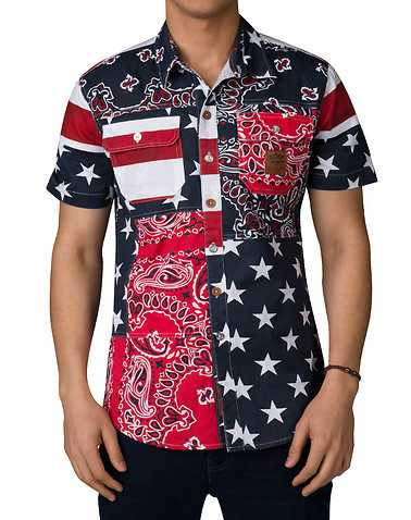 HERITAGE MENS Multi-Color Clothing / Button Downhirts