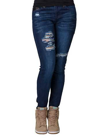 LA BELLE ROC WOMENS Dark Blue Clothing / Jeans 3/4