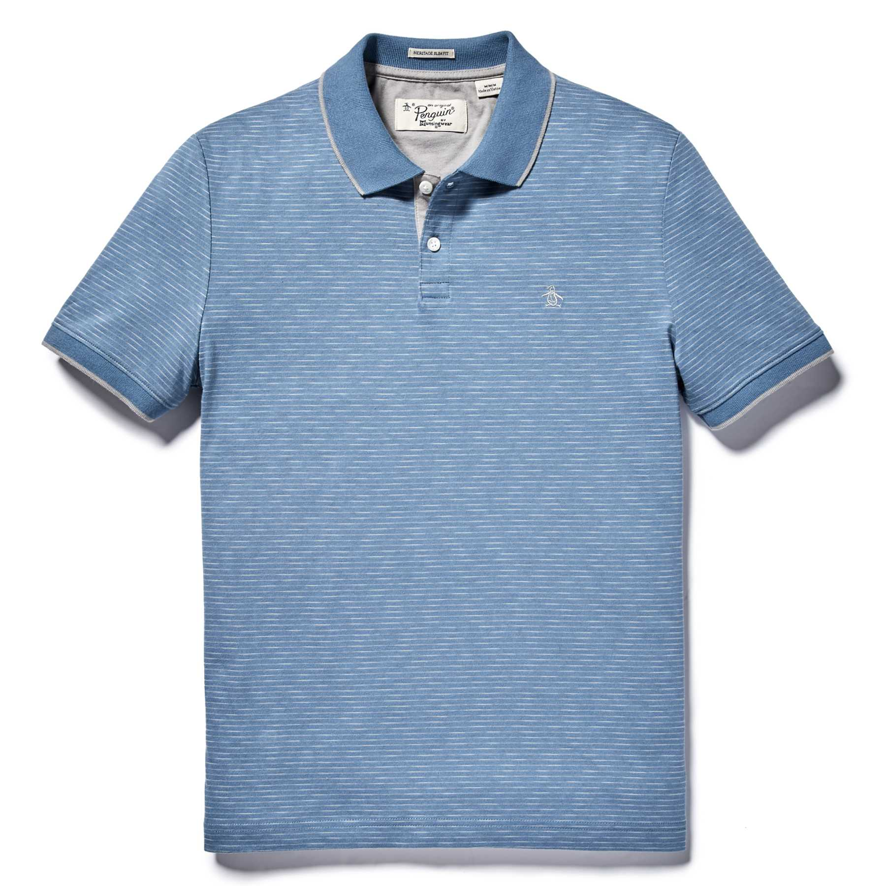 Original Penguin SLUB FEEDER STRIPE POLO