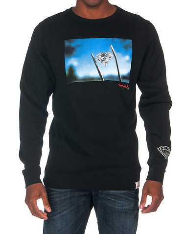DIAMOND SUPPLY COMPANY MENS Black Clothing / Sweatshirts M
