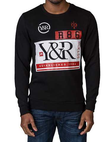 YOUNG AND RECKLESS MENS Black Clothing / Sweatshirts L