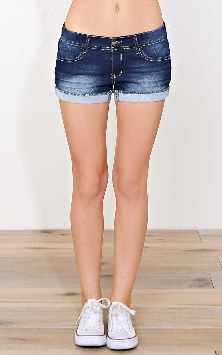 Bring On Spring Soft Denim Shorts - Dark Denim in Size 3 by Styles For Less