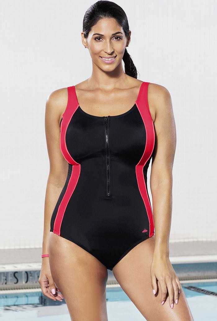 Chlorine Resistant Xtra Life Lycra Coral Zip Swimsuit