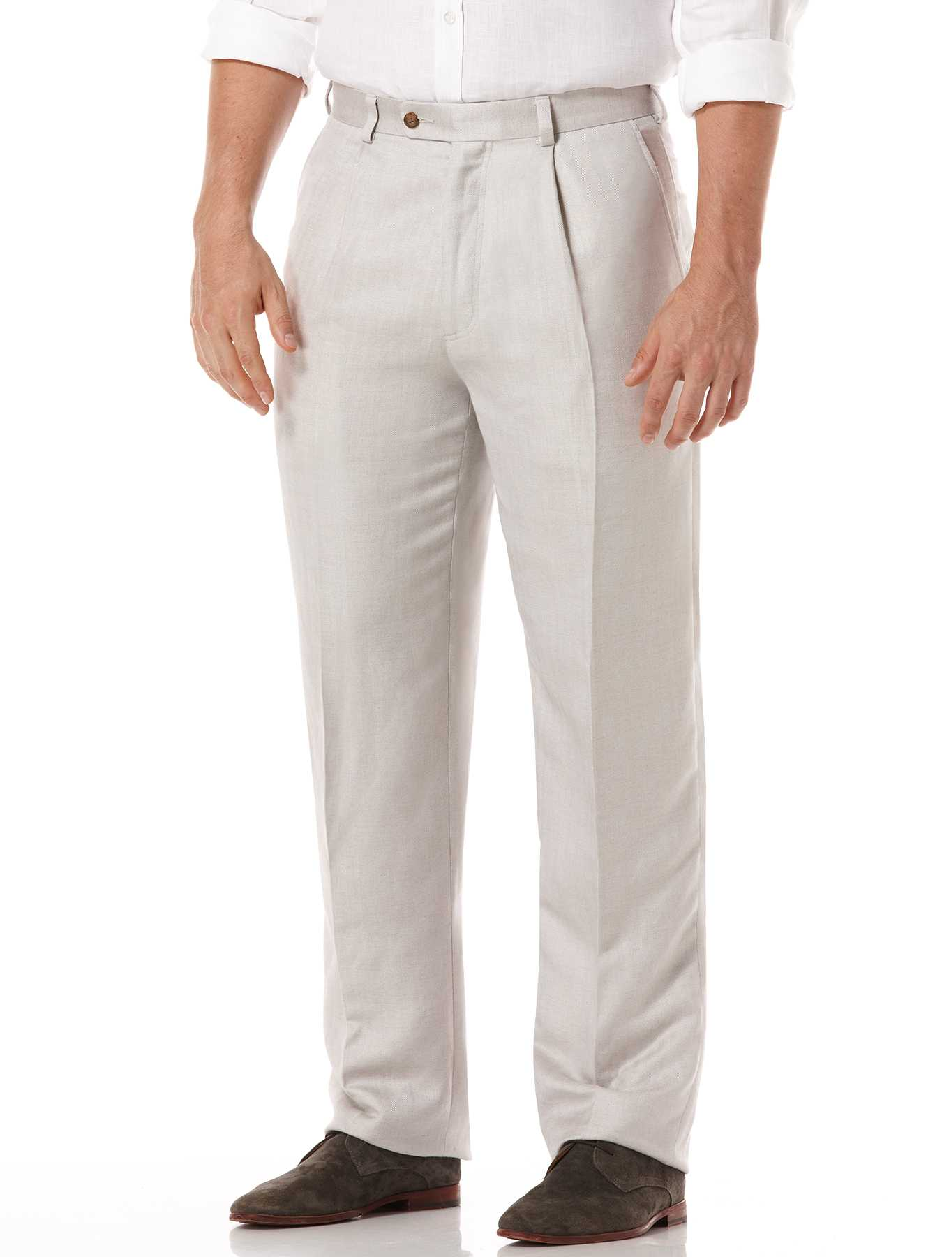 Cubavera One Pleat Linen Pant