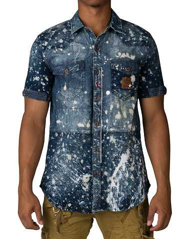 HERITAGE MENS Blue Clothing / Button Down Shirts M