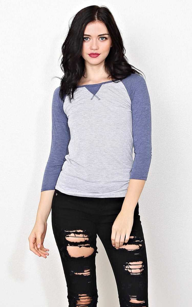 Take Me Out Knit Top - - Navy in Size by Styles For Less
