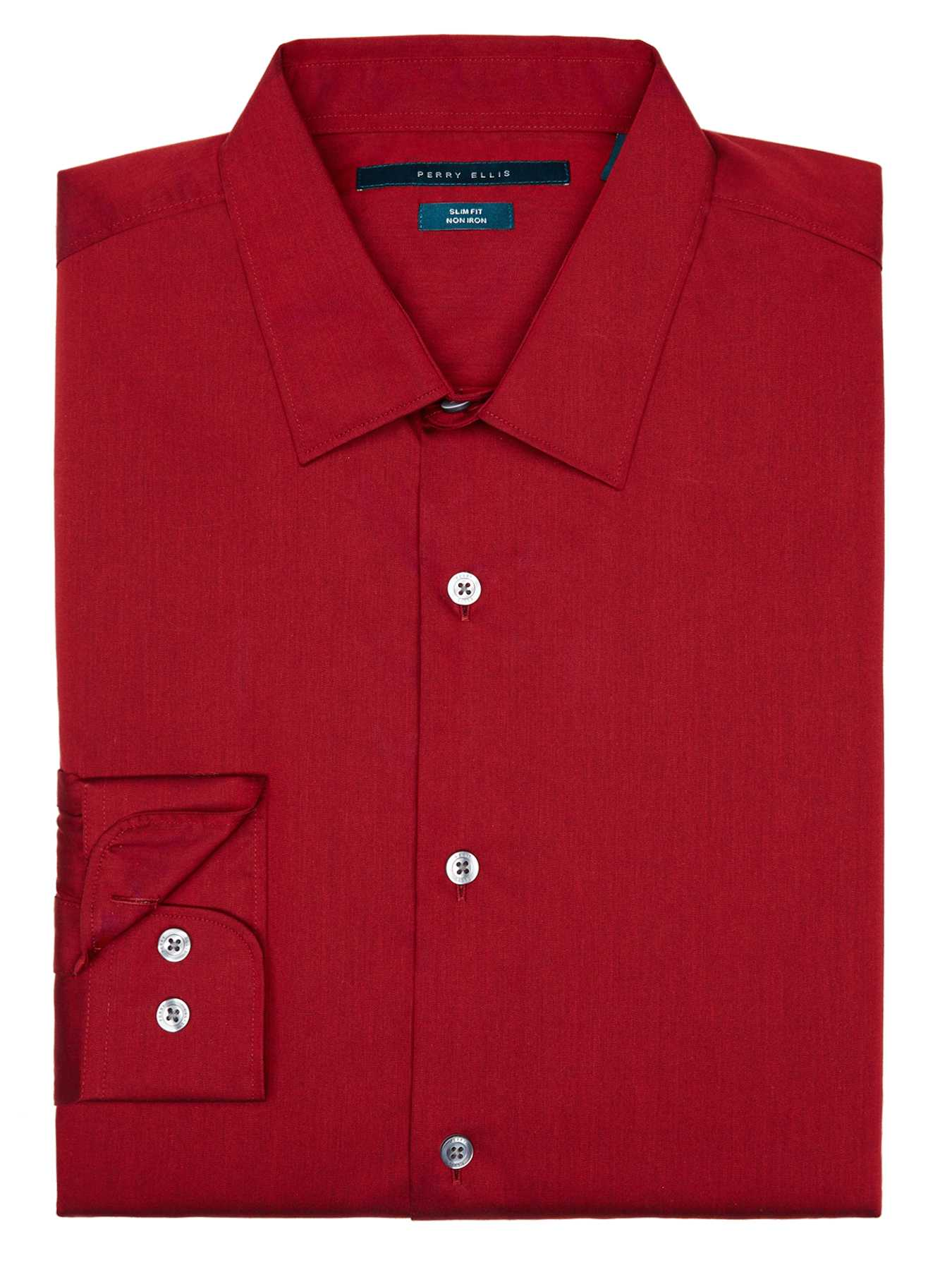 Perry Ellis Non-Iron Slim Fit Essential Shirt