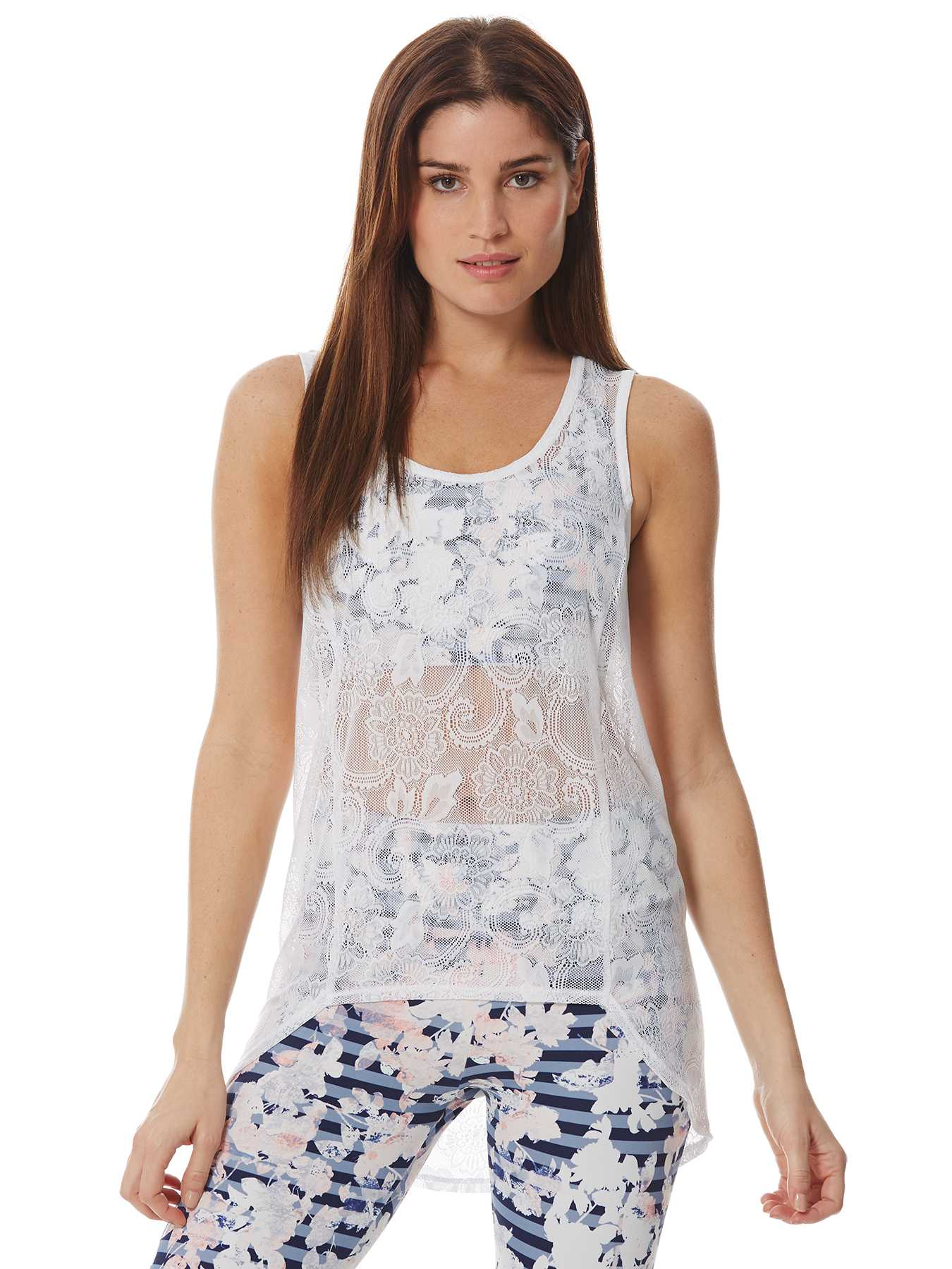 Peony High-low Oversized Lace Top