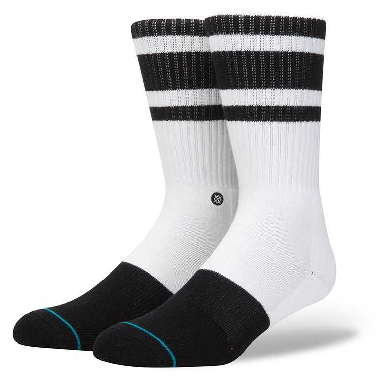 Stance White Out 2 (Black) classic crew Socks