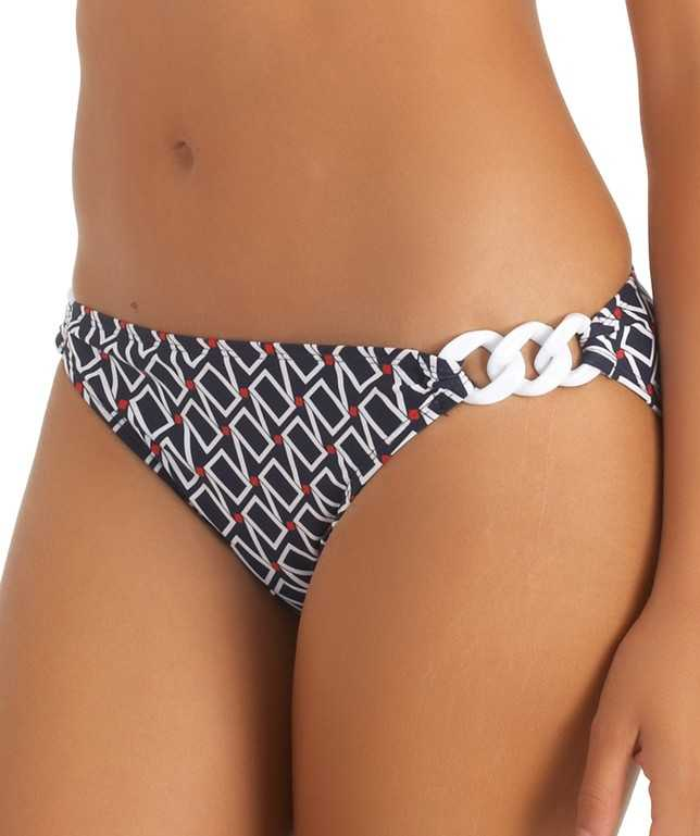 Squared Away Retro Bikini Bottom Color Navy Size